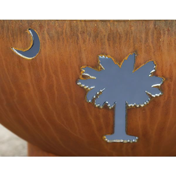 Tropical Moon Wood Burning Fire Pit image number 11