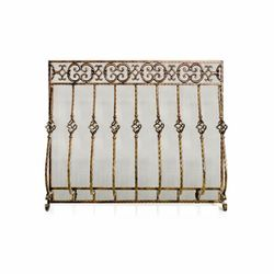 Tuscany Cast Iron Fireplace Screen with Mesh