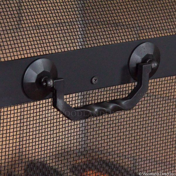 "Twist Handled Black Spark Guard Screen - 44"" x 33"" image number 2"