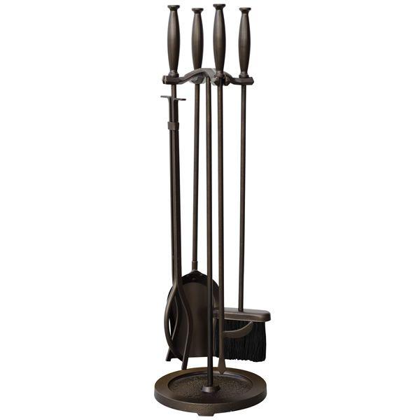 Fireset with Cylinder Handles - Bronze image number 0