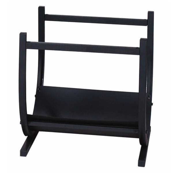 Uniflame Contemporary Wrought Iron Indoor Firewood Rack - Black image number 0