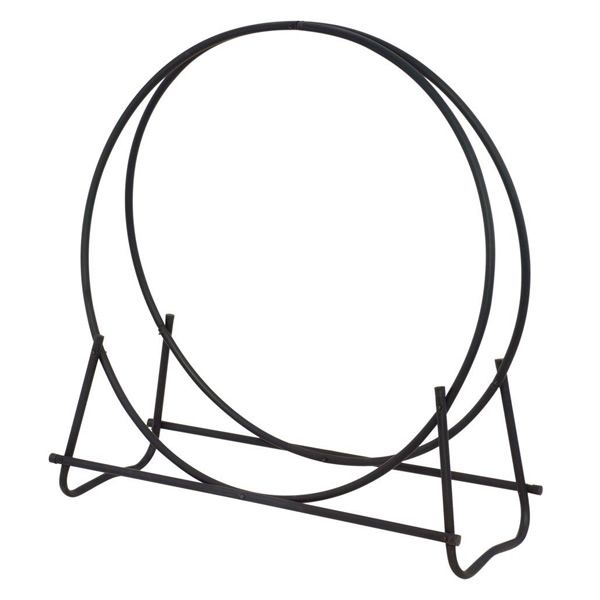"Uniflame Black Diameter Tubular Hoop Wood Holder - 40"" image number 0"