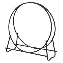 "40"" Black Diameter Tubular Hoop Wood Holder"