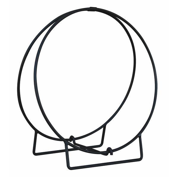 "Uniflame Black Solid Stock Hoop Wood Holder - 24"" image number 0"
