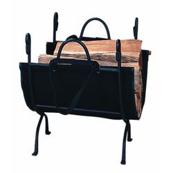 Deluxe Wrought Iron Indoor Firewood Rack