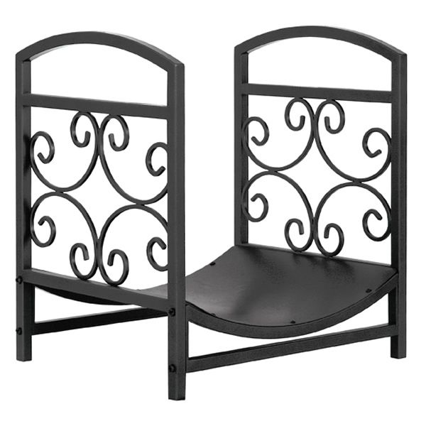 Uniflame Indoor FIrewood Rack with Decorative Scrollwork - Graphite image number 0