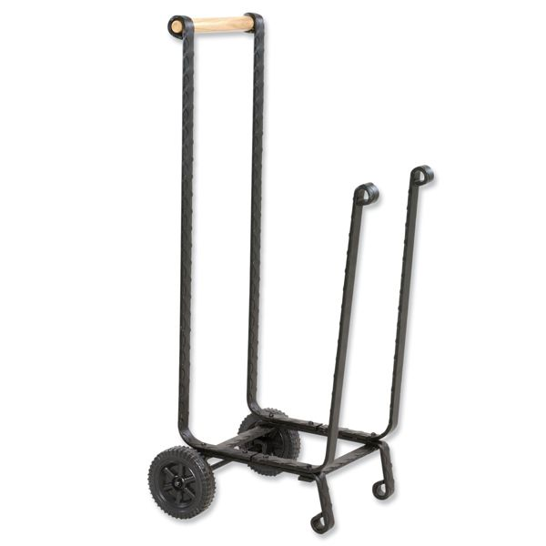 Uniflame Large Wood Cart with Wheels - Black image number 0