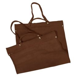 Light Brown Suede Log Carrier