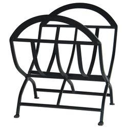 Wrought Iron Indoor Firewood Rack - Black