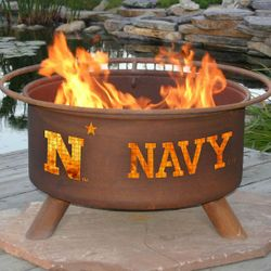 United States Naval Academy Wood burning Fire Pit