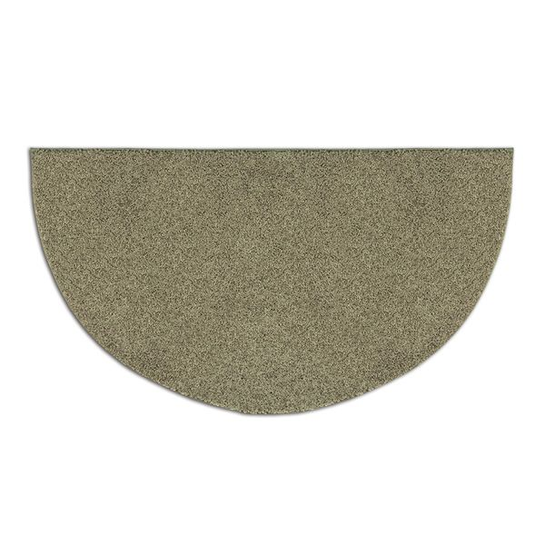 University Green Frizzy Fun Half Round Nylon Fireplace Hearth Rug - 4' image number 0