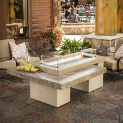 "Uptown Brown Gas Fire Pit Table - 42"" Burner"