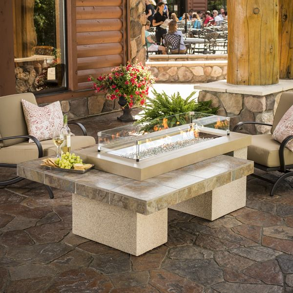 "Uptown Brown Gas Fire Pit Table - 42"" Burner image number 0"