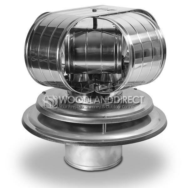 Vacu-Stack Air Cooled Stainless Steel Marine Chimney Cap image number 0