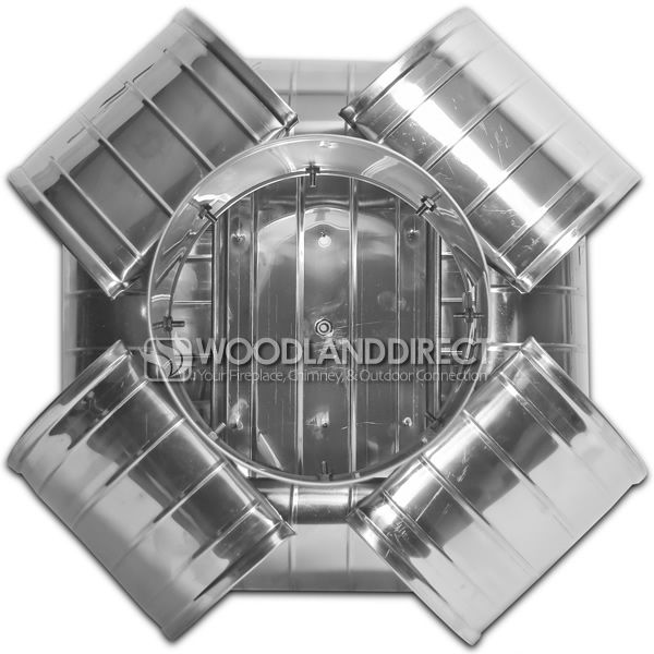 Vacu-Stack Solid Pack Stainless Steel Chimney Cap image number 1