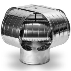 Vacu-Stack Solid Pack Stainless Steel Chimney Cap