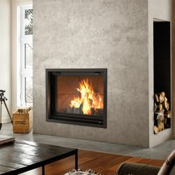Valcourt Antoinette Wood Fireplace with Guillotine Door