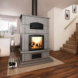 Valcourt FM1000 Soapstone Fireplace with Oven