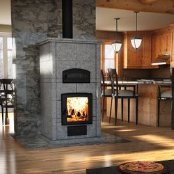 Valcourt FM1200 Soapstone Fireplace with Oven