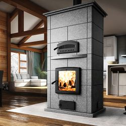 Valcourt FM1500 Soapstone Fireplace with Oven