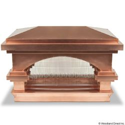 Venetian Copper Custom Chimney Cap
