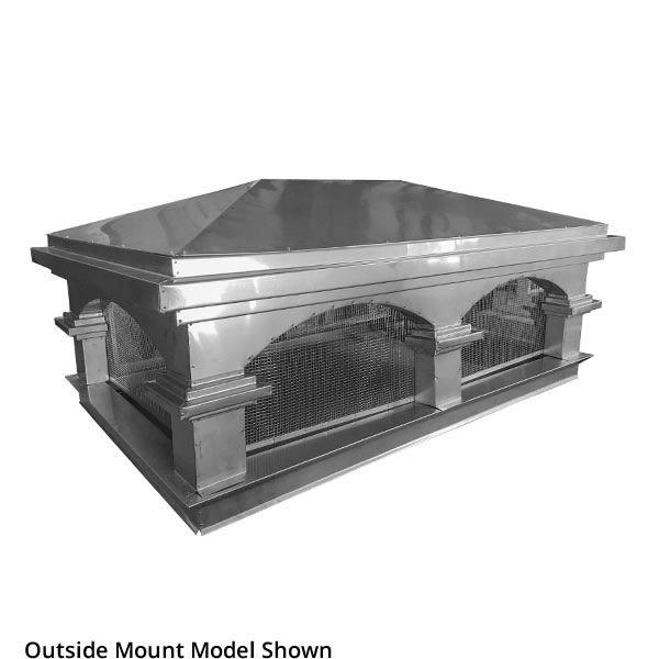 Venetian Chimney Cap - Stainless Steel image number 0