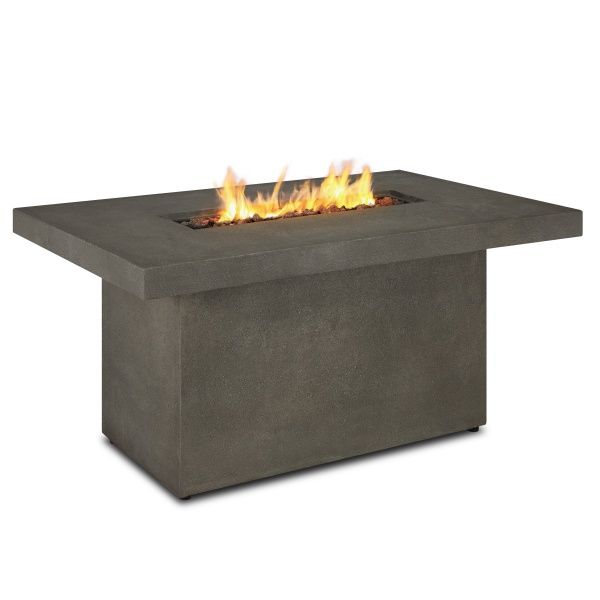 Ventura Rectangle Gas Fire Pit Table - Glacier Gray image number 2