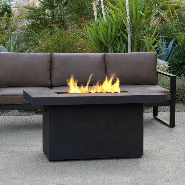 Ventura Rectangle Gas Fire Pit Table - Kodiak Brown image number 0