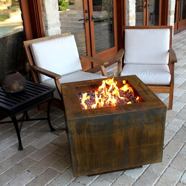 "Vesta Fia Steel Gas Fire Pit - 30"" image number 1"