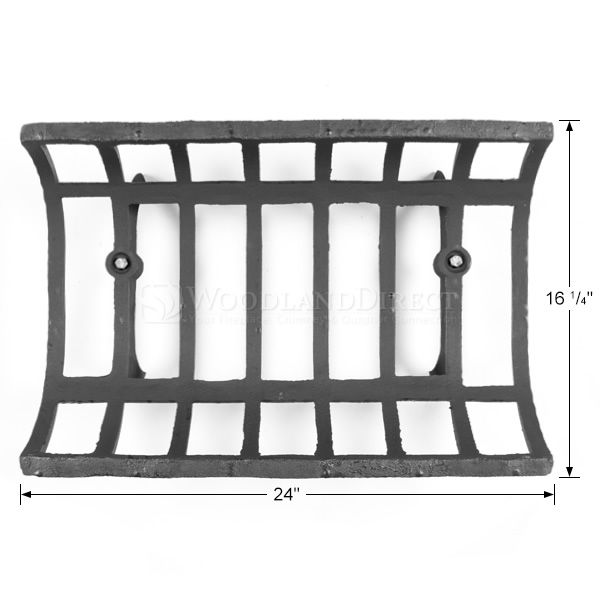 "See-Through Fireplace Grate - 24"" image number 1"