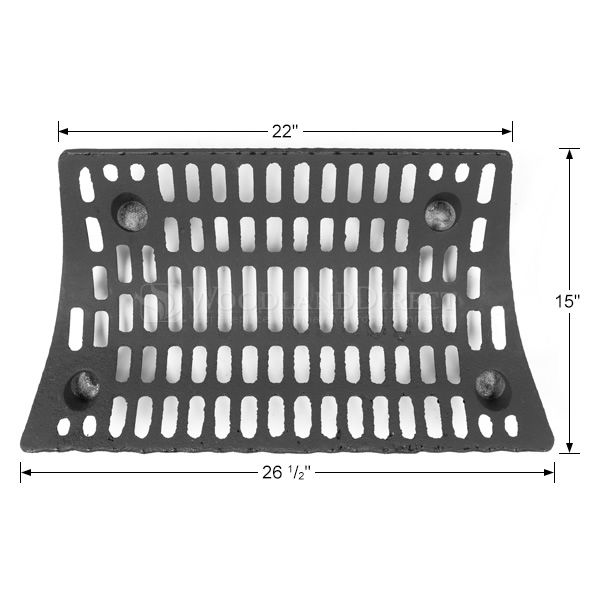 "Self-Feeding Fireplace Grate - 26 1/2"" image number 1"