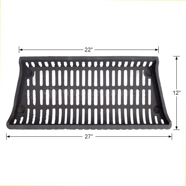 "Modern Fireplace Grate - 27"" image number 1"