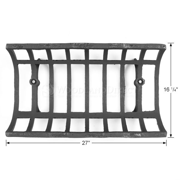 "See-Through Fireplace Grate - 27"" image number 1"