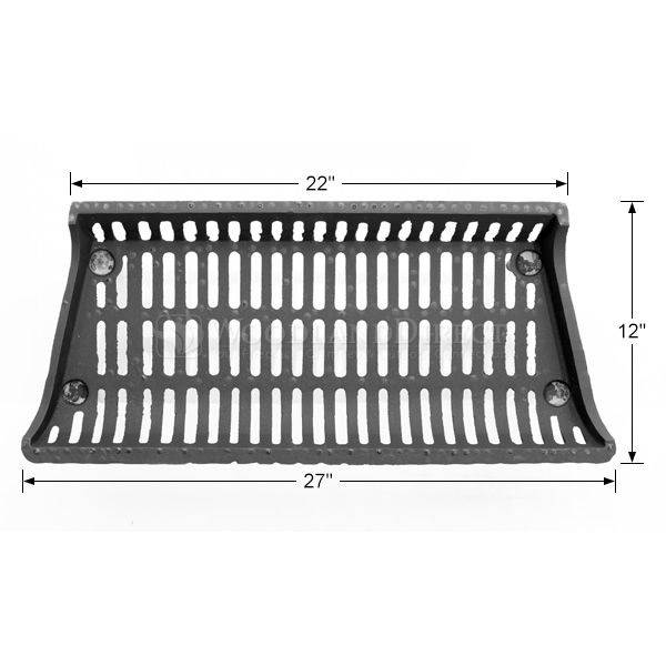 """Tall Modern Fireplace Grate - 27"""" image number 1"""