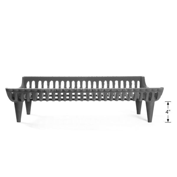 """Tall Modern Fireplace Grate - 27"""" image number 2"""