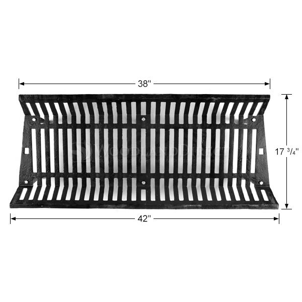 "Jumbo Fireplace Grate - 42"" image number 1"