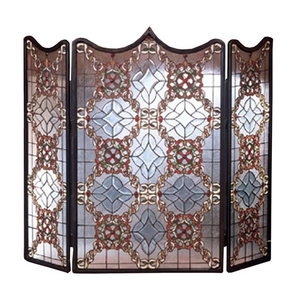 Meyda Tiffany Victorian Beveled Fireplace Screen image number 0