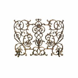 Vineyard Cast Iron Fireplace Screen