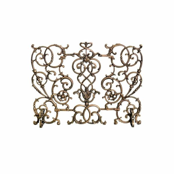 Vineyard Cast Iron Fireplace Screen image number 0