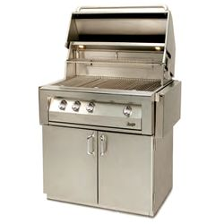 """Vintage Cart-Mount Gas Grill - 36"""""""