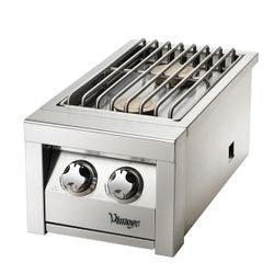 Vintage Double Stainless Steel Side Burner