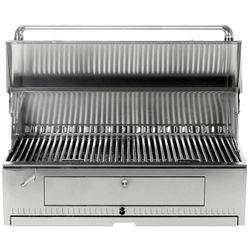 "Vintage 42"" Stainless Steel Charcoal Grill Head"