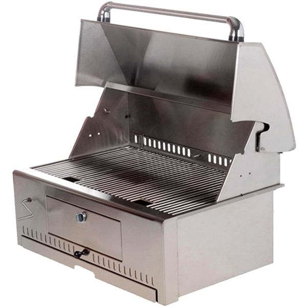 "Vintage Stainless Steel Charcoal Grill Head - 30"" image number 0"