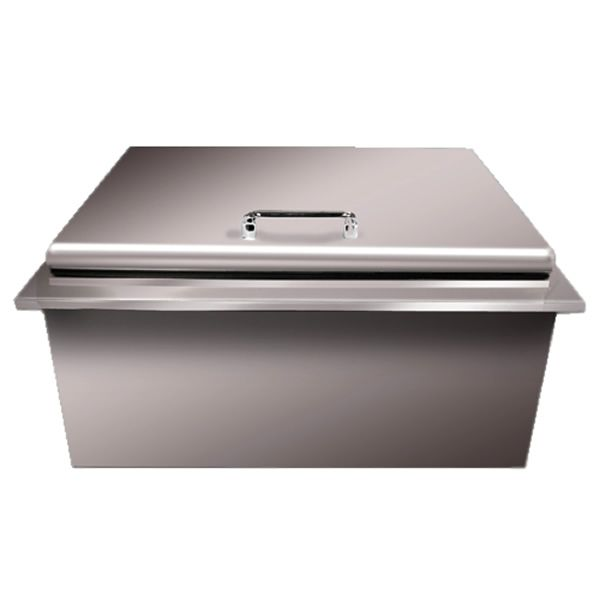 Vintage Stainless Steel Ice Chest with Bartender image number 0