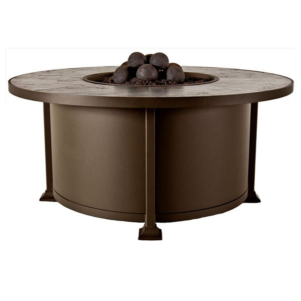"Vulsini Round Chat Height Gas Fire Pit Table - 54"" image number 3"