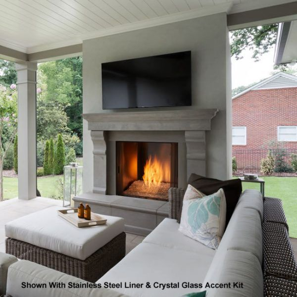 """Majestic Courtyard Outdoor Gas Fireplace - 42"""" image number 0"""